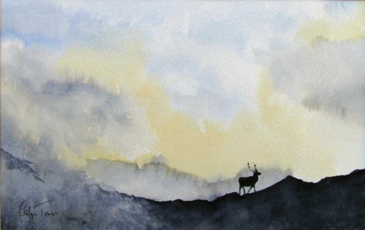Stag in a Storm
